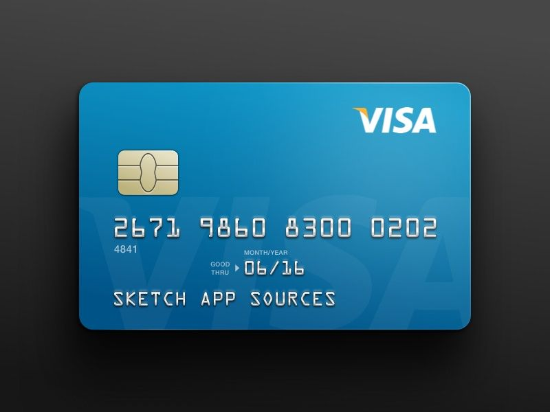 VISA Credit Card Template Sketch freebie - Download free resource for Sketch - Sketch App Sources