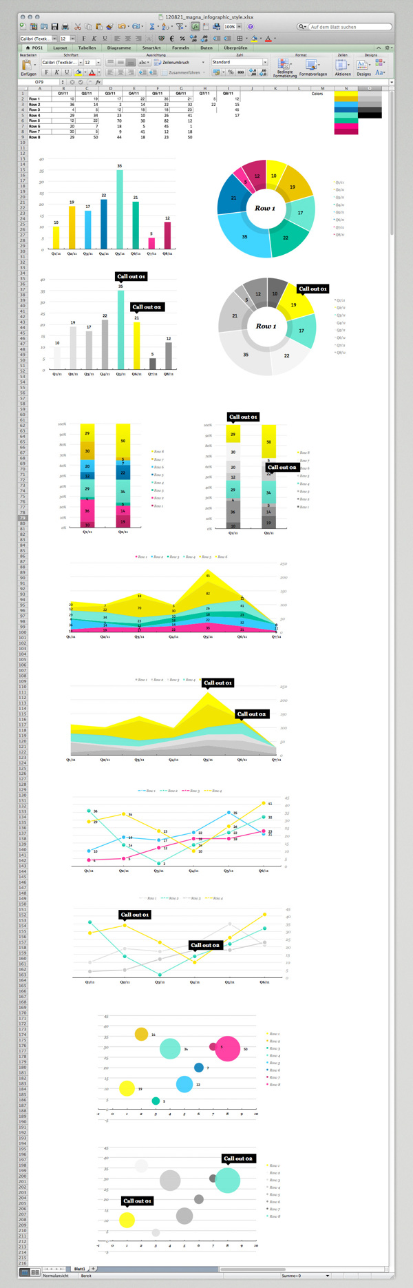 Magnaglobal Infographic Excel Template By Bureau Oberhaeuser Via Behance Excel Templates Data Visualization Excel Dashboard Templates