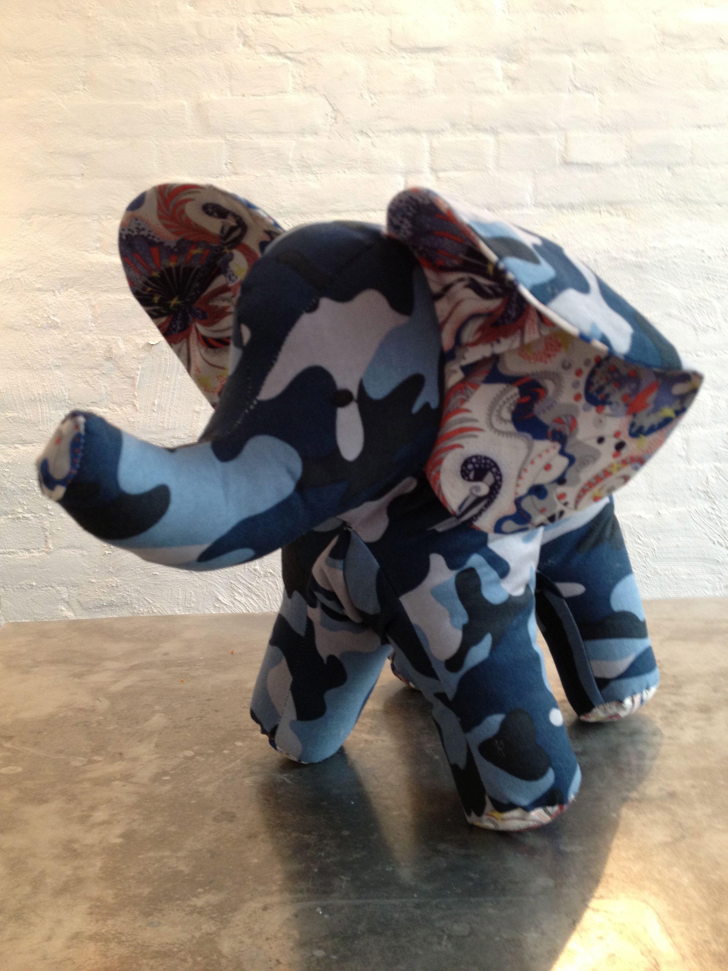 Elephant Blå Camouflage / ToutPetit