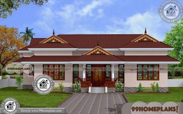 3 Bedroom House Plans Kerala Single Floor Traditional Nalukettu Veedu Beautiful House Plans Craftsman House Plans Kerala House Design