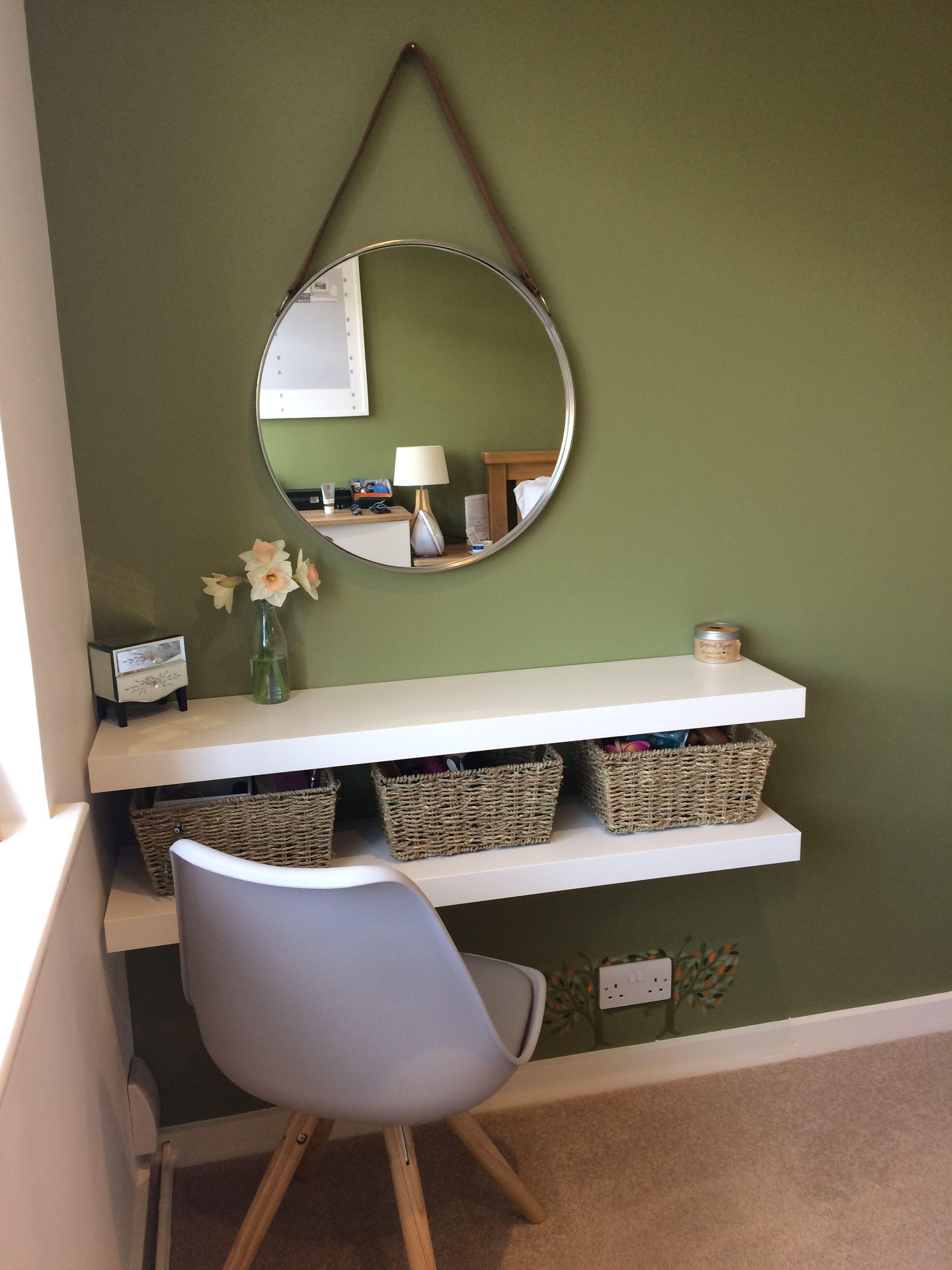 My Vanity Unit Ikea Shelves John Lewis Mirror Baskets Love It