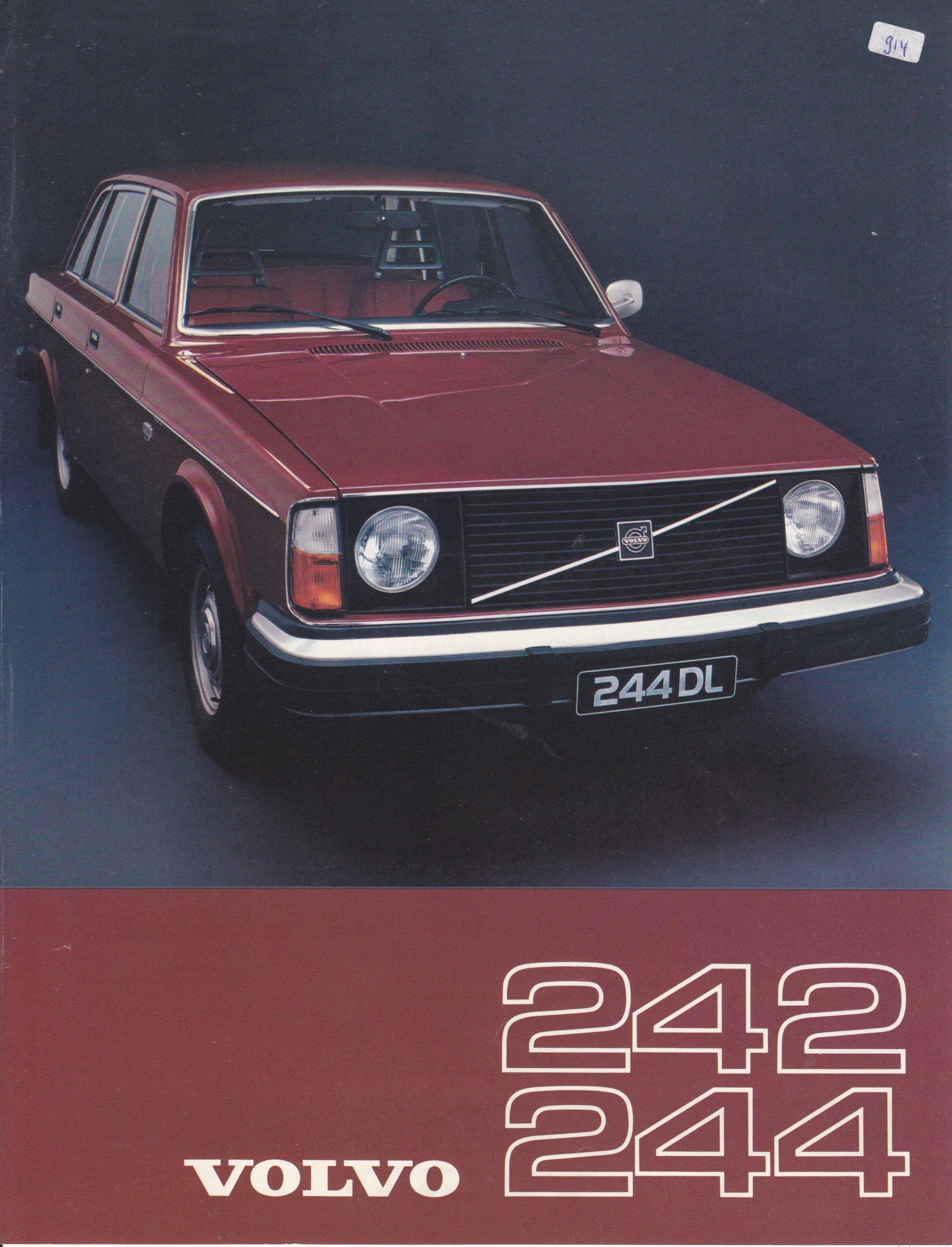Volvo 242 244 Saloon Leaflet Dutch 2911 76 Car Advertising Volvo Cars
