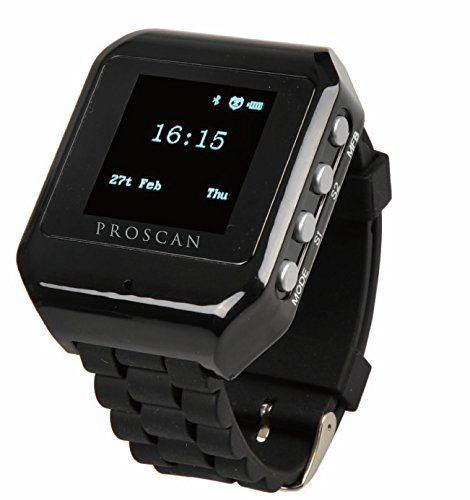 """Proscan Proscan PBTW213-Black 1.5"""" Bluetooth Digital Watch"""