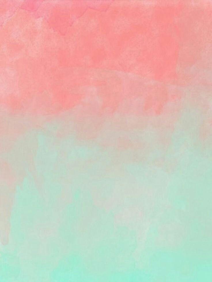 Pink & Mint Green Abstract Art Ipad mini wallpaper, Mint