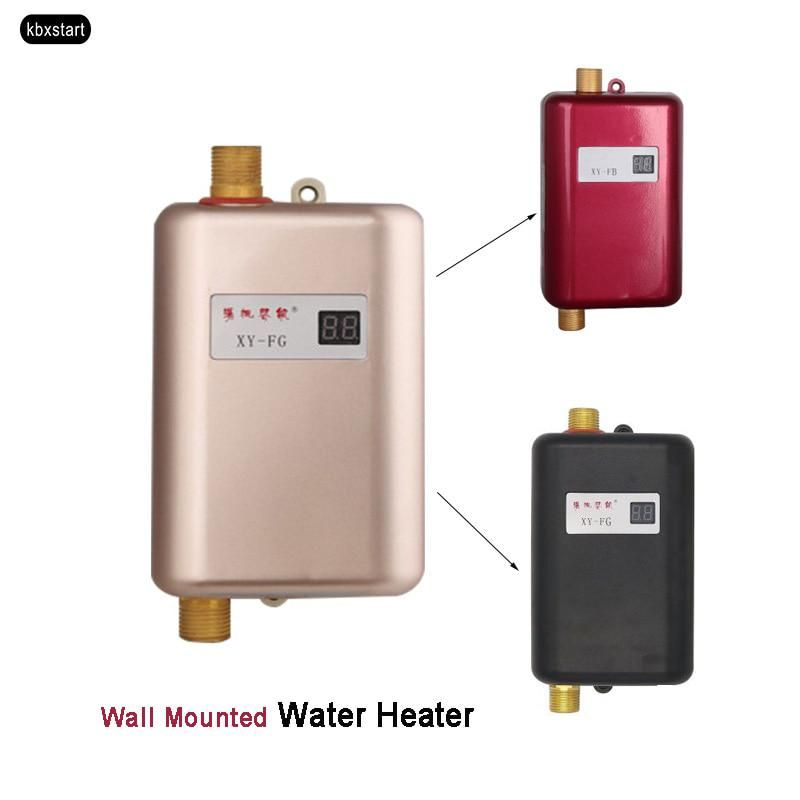 EU Plug Continuous Water Heater Wall Mounted Electric