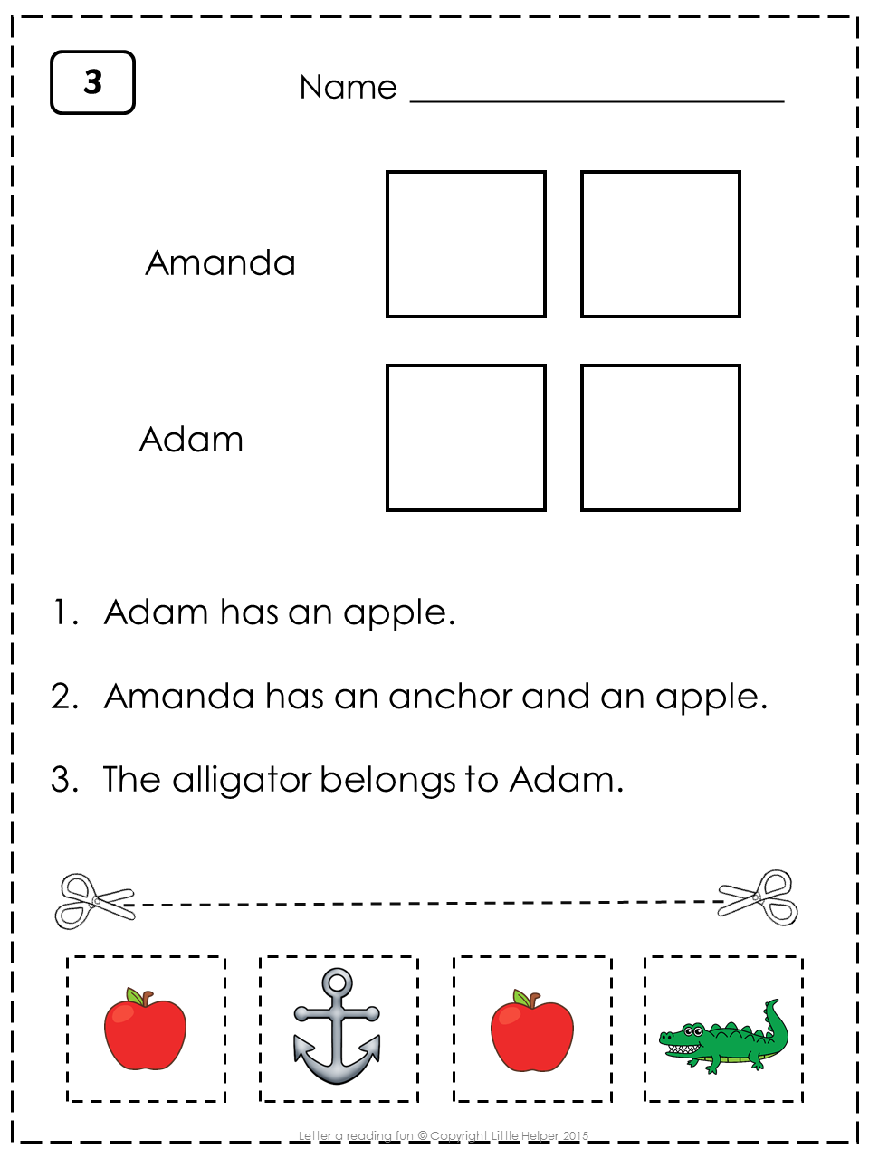 letter a worksheets this set is great for beginning readers to practice reading sentences with. Black Bedroom Furniture Sets. Home Design Ideas