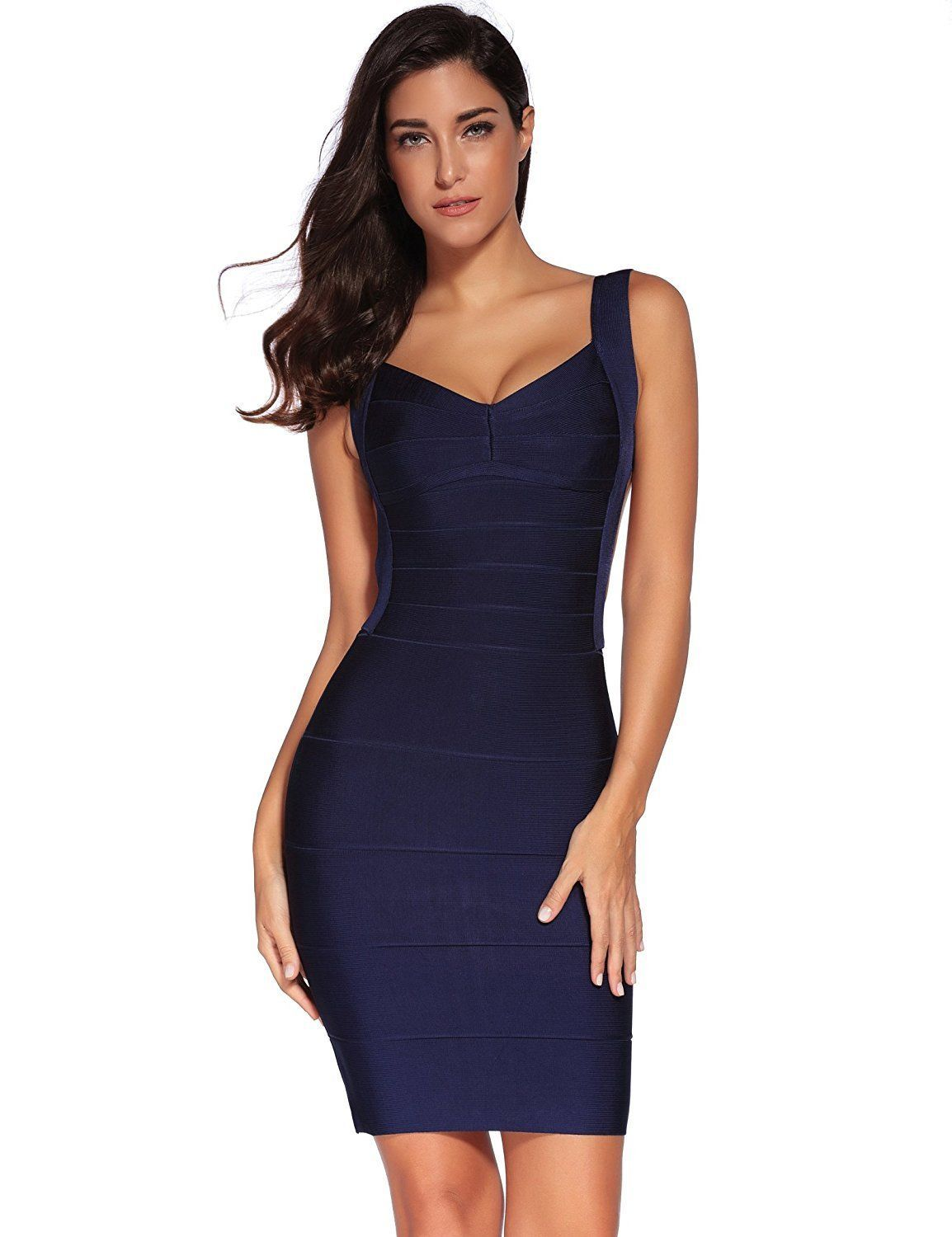 90f5b35b2dd Awesome Amazing Meilun Women s Bandage Dress Backless Stripe Sleeveless  Bodycon Party Dresses 2017 2018 Check