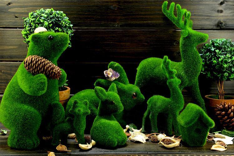 Artificial creative grass animal for home and garden decor