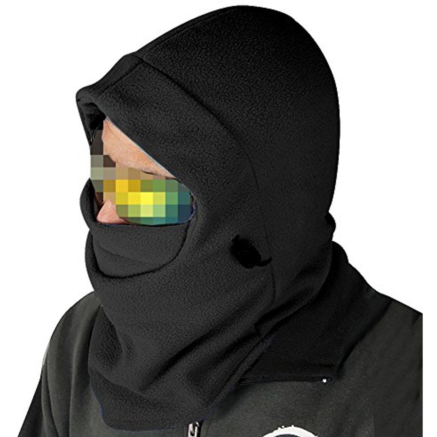 bbc3b7ac313 Nsstar Thermal Warm Fleece Full Face Mask Balaclava CS Mask Head and Neck  Cover Warmer Windproof Hooded Scraf Hat for Winter Outdoor Sports Cycling  ...
