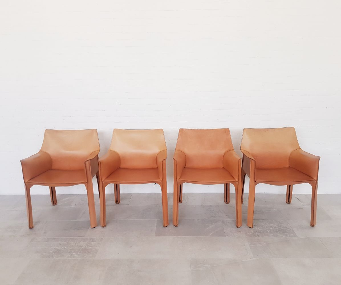 Aok Sessel Set Of 4 Cassina Cab413 Chairs By Mario Bellini From The 1980s