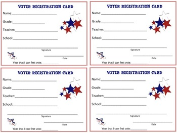 Voter Registration Cards For Students Can Be Used For Your Own