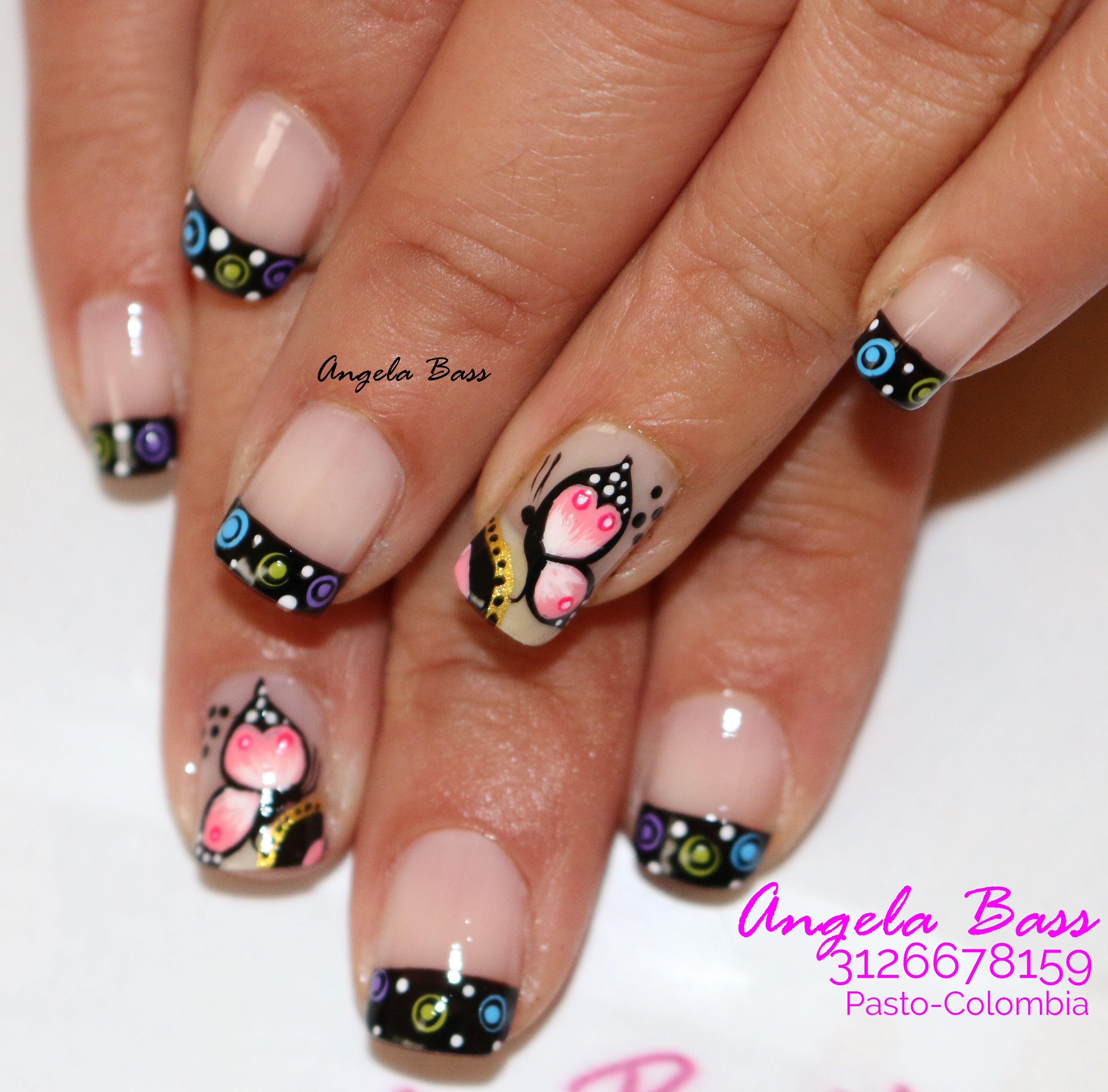 Decoración de uñas con flores, flores en uñas, uñas flores, flores ...