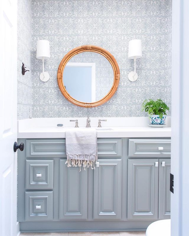 72356a90ae Montara Mirror - Neutral - Powder Room - Bathroom - Sink via Serena   Lily