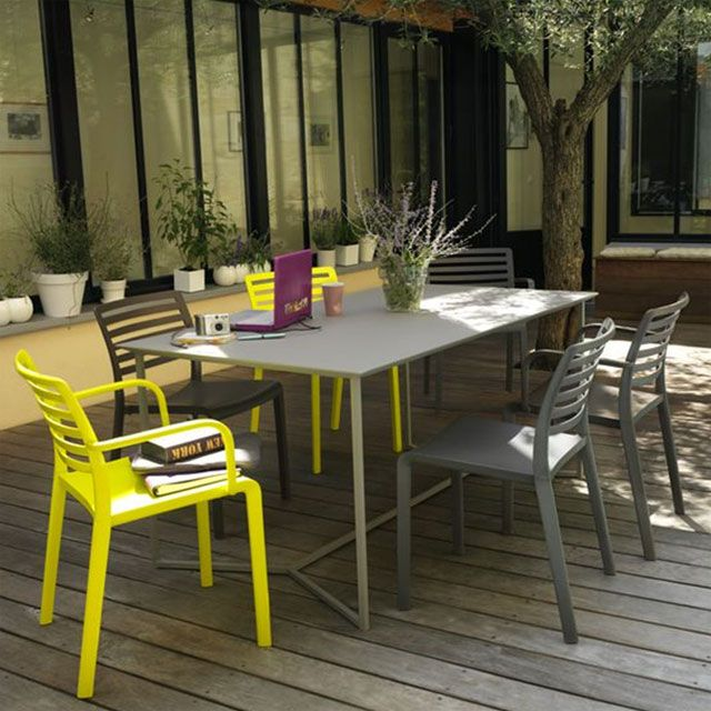 Collections Jardin 2011 Exit Le Plastique Blanc Table Jardin Plastique Mobilier Terrasse Decoration Gris