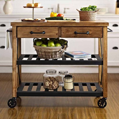 Kettering Industrial Kitchen Cart Jcpenney Decor Home