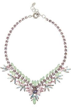 26e2a2be6ce73c Elizabeth Cole Northstar rhodium-plated Swarovski crystal necklace ...