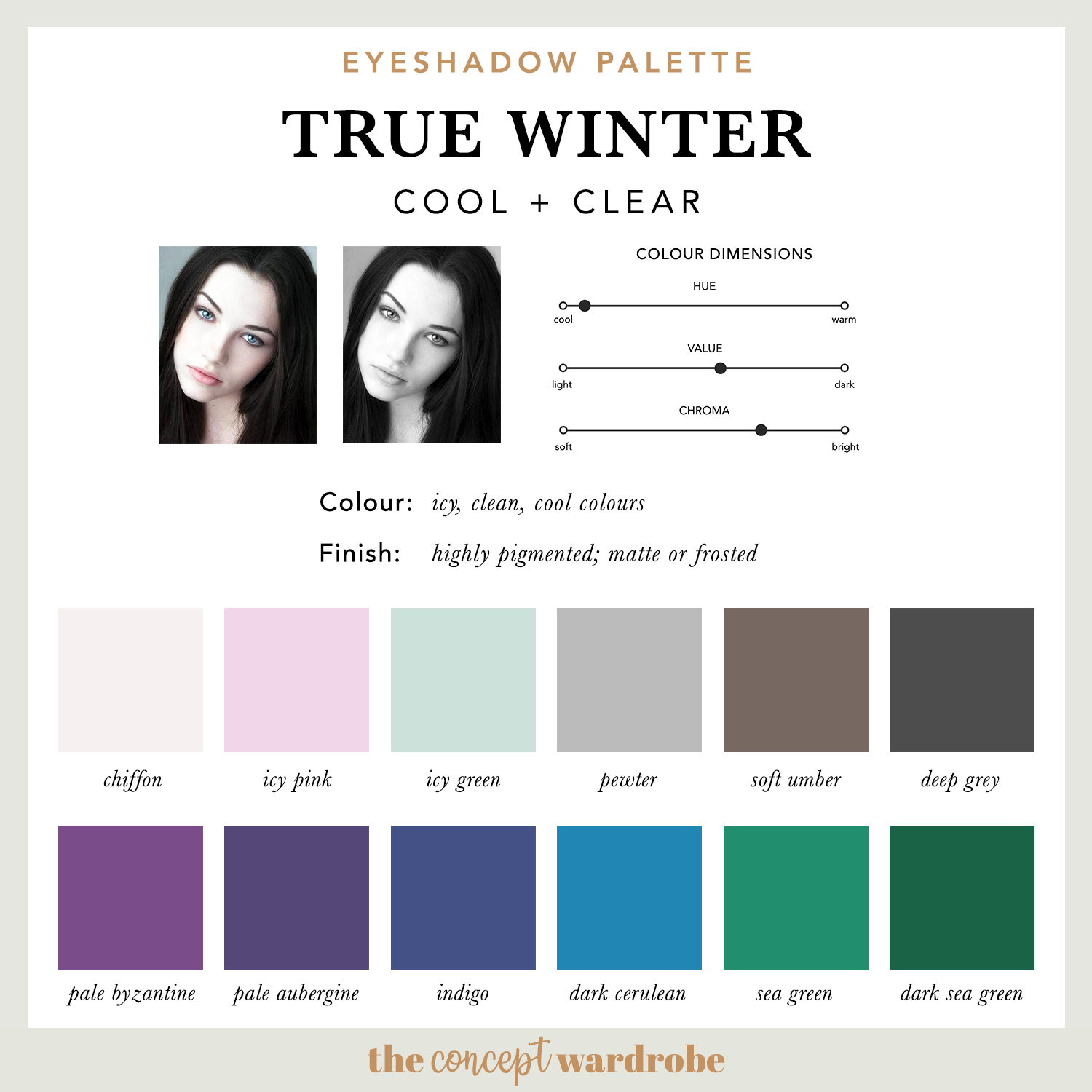 TRUE WINTER | Eyeshadow Palette