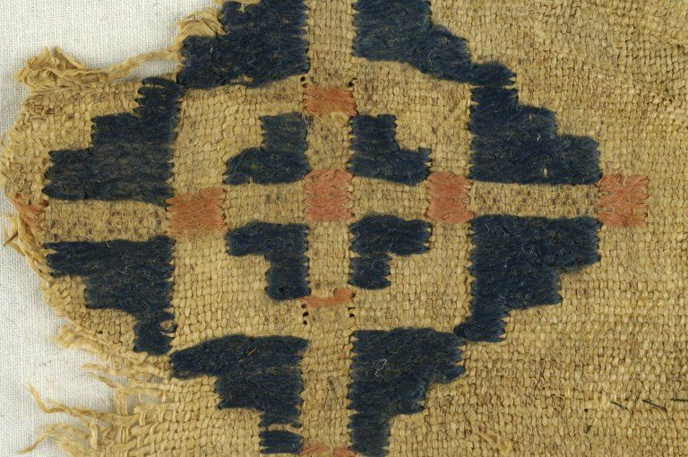 Coptic. Textile. Embroidery of wool and linen, 5 x 5 in. (12.7 x 12.7 cm). Brooklyn Museum, Charles Edwin Wilbour Fund, Accession Number: 38.689.