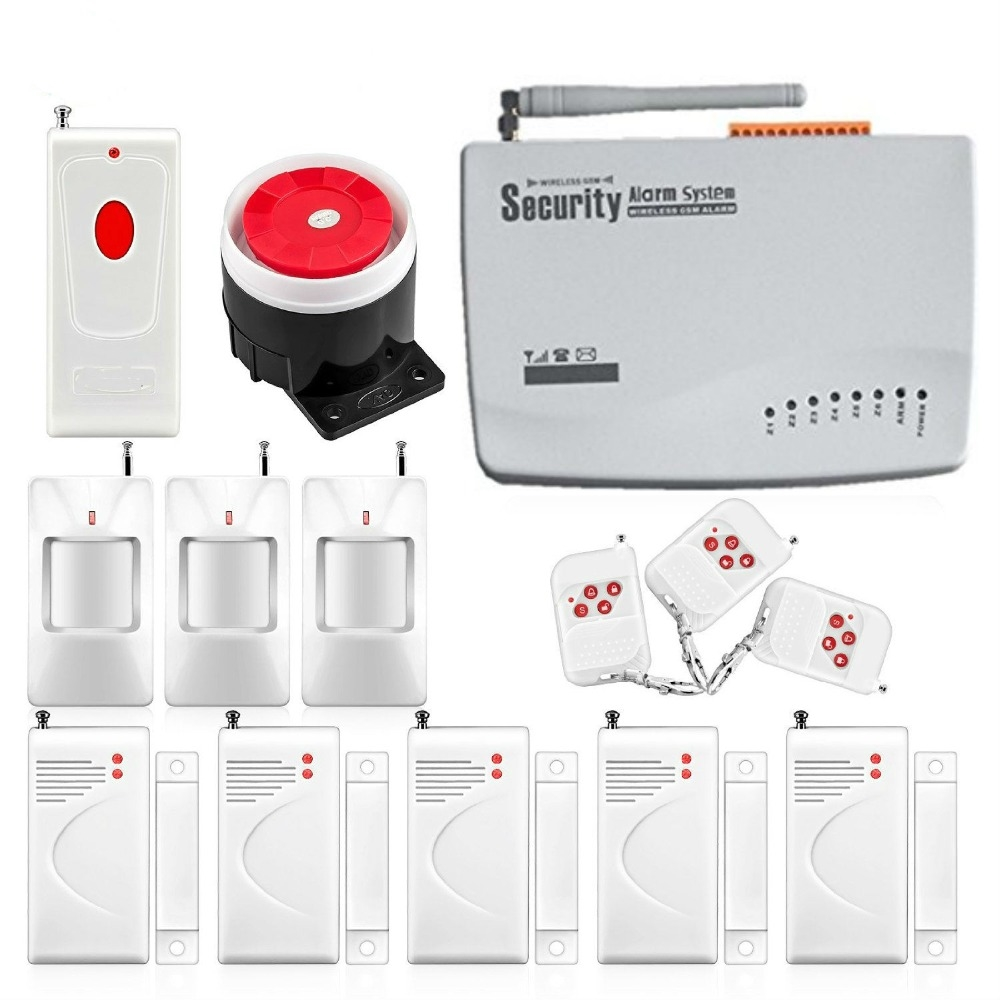 61.37$ Watch here - http://ali9n7.shopchina.info/go.php?t=32728888952 -  English Russian Voice Home GSM Secure Alarm System Wireless GSM Security  Alarm ...