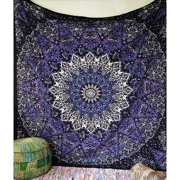 Large Fabric Blue Star Mandala Psychedelic Wall Tapestry Hippie Wall Hanging Throw Boh Mandala Tapestries Wall Hangings Purple Tapestry Hippie Mandala Tapestry