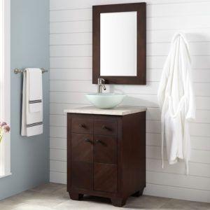 Espresso Framed Bathroom Mirrors