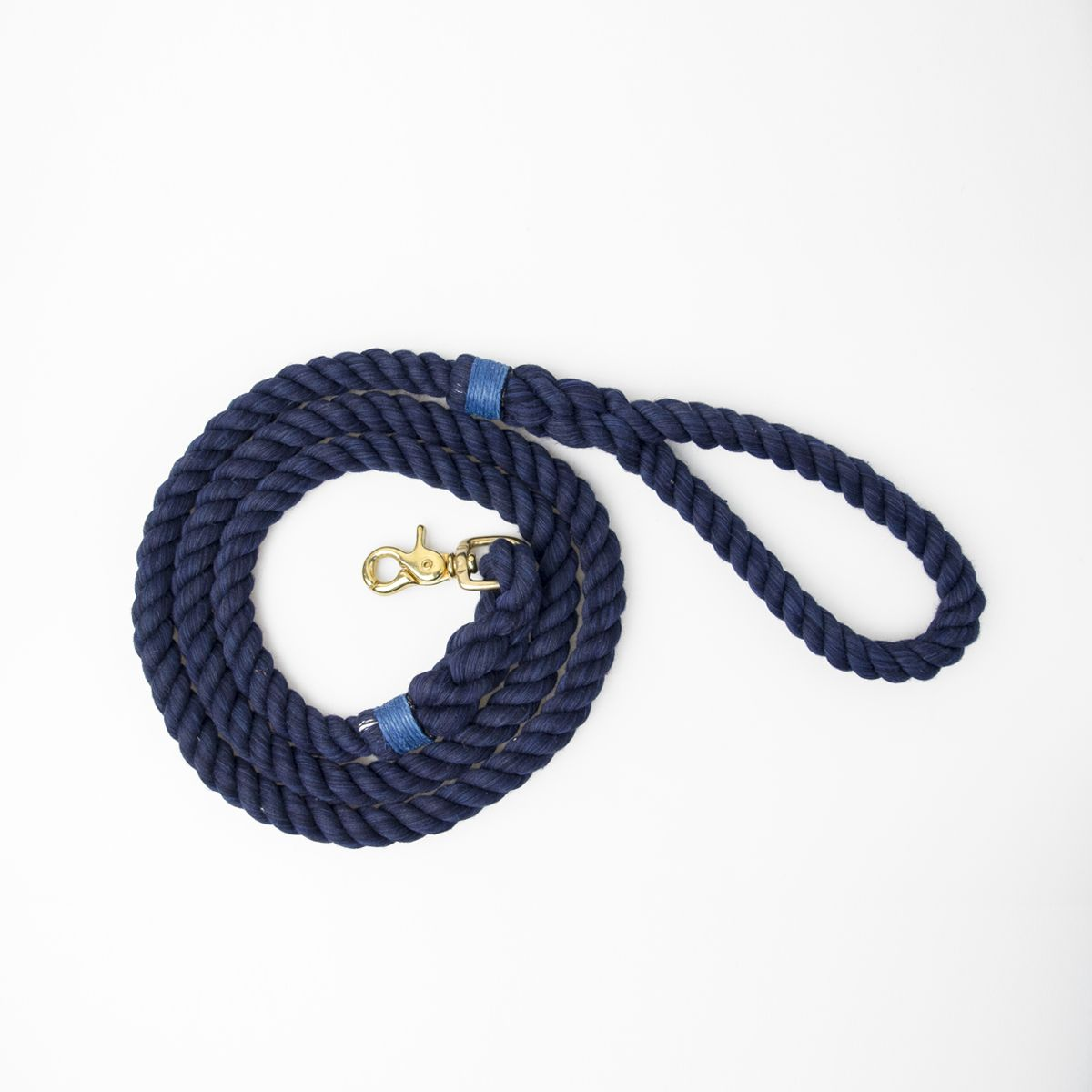 The Regular Rope Leash in Navy & Sky Blue <3  #ropeleash #lassodogs