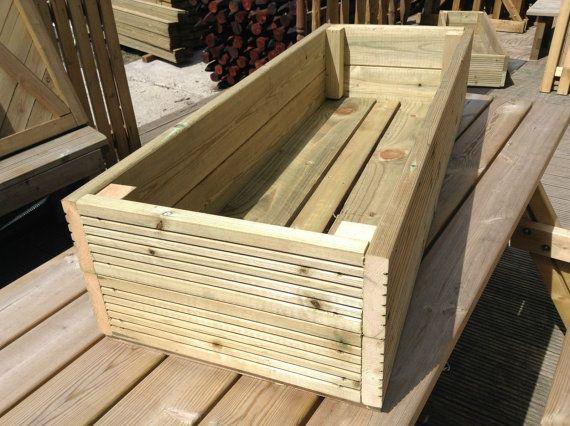 Large Decking Wooden Garden Planter Handmade 0 6m 2ft 1 2m