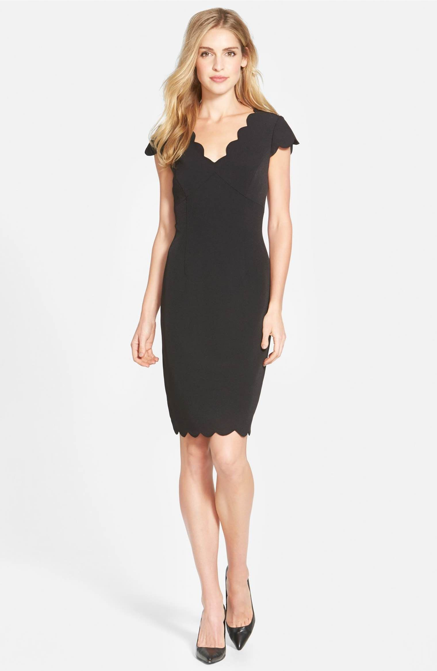 Adrianna papell white and black sheath dress