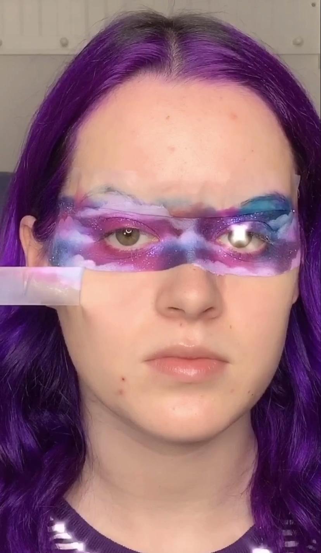 Purple Galaxy Makeup Look Tutorial