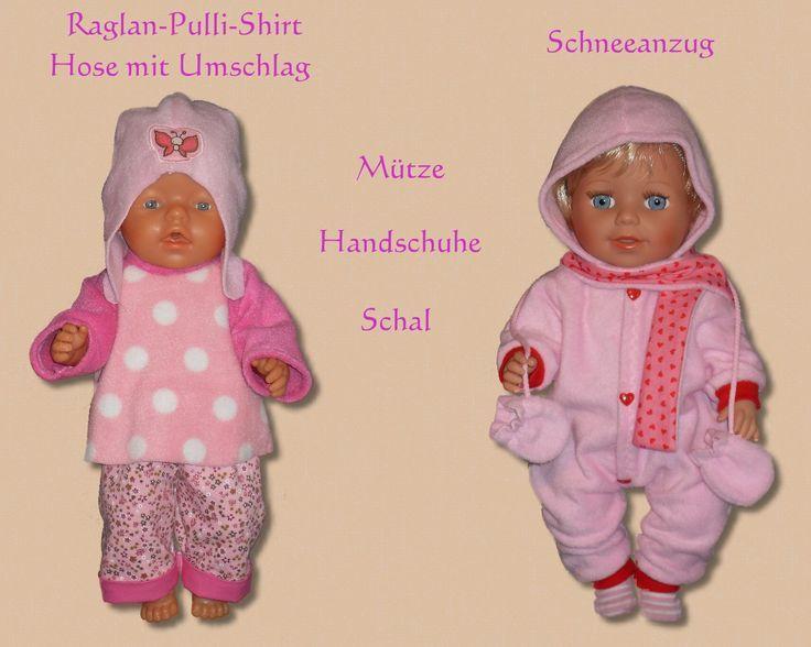 20 Schnittmuster für Puppenkleidung. Tolle Wintermode für eine 43cm ...