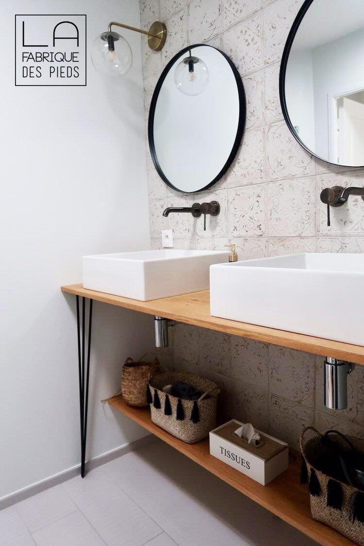 Pied Epingle Renforce Sur Mesure De 25 A 110 Cm Meuble Vasque Idee Salle De Bain Idees Salle De Bain
