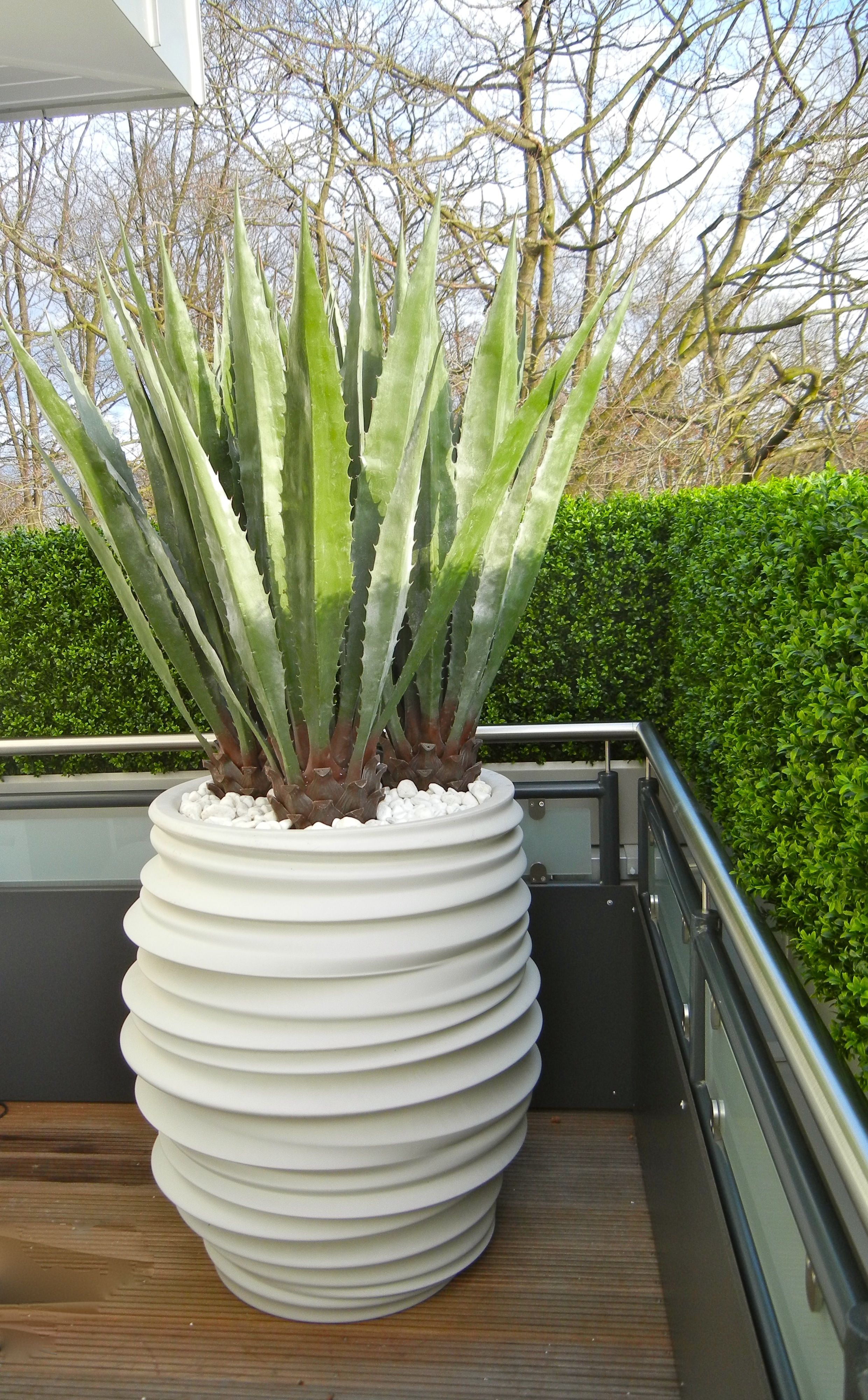 Wetterfeste Kunstpflanzen von Bellaplanta Terrasse