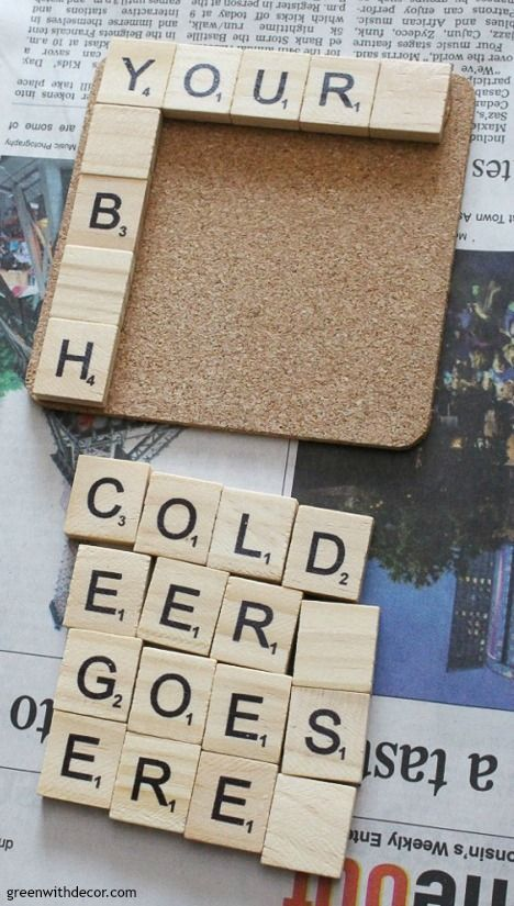 How to make scrabble tile DIY coasters | Scrabble crafts ...