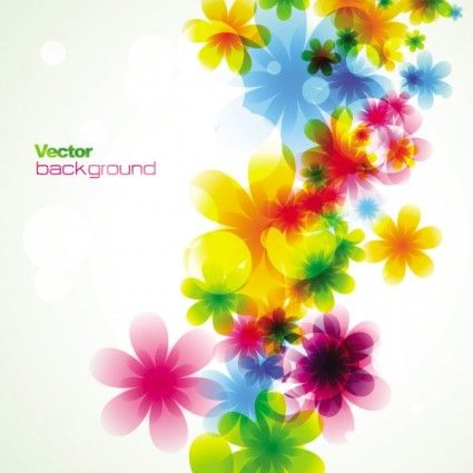 Dream Spring Flowers Background 03 Vector Free Vector In