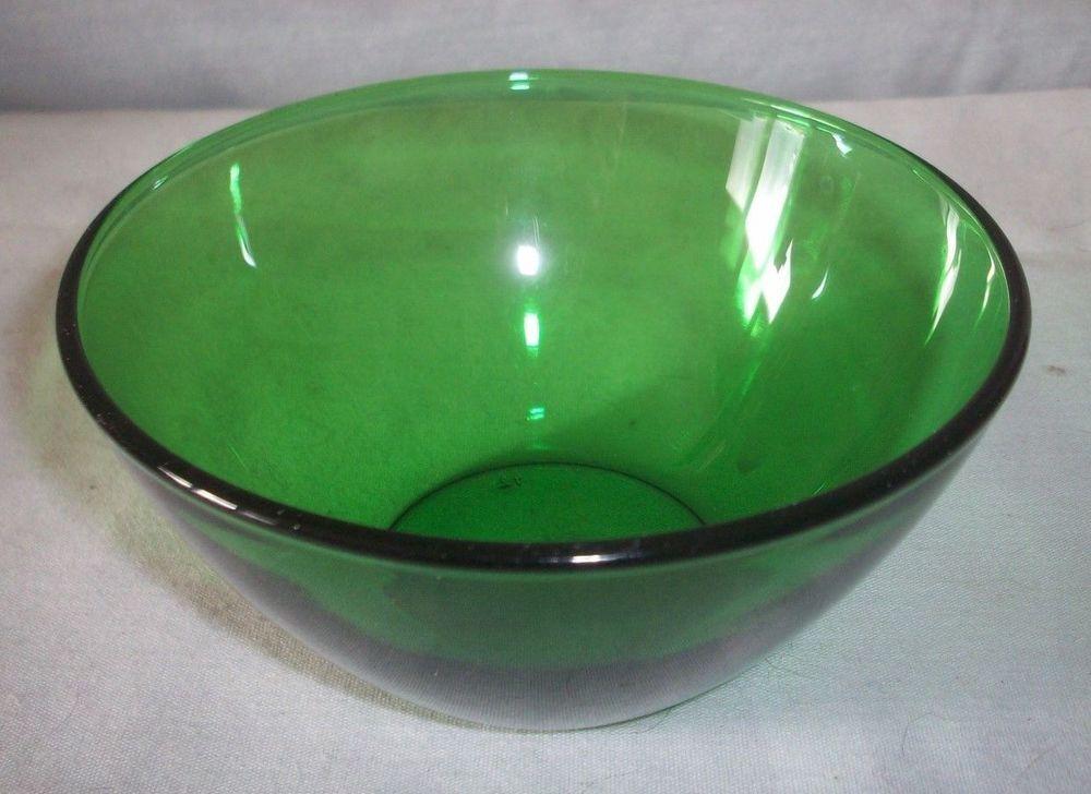 ARCOROC FRANCE GREEN GLASS BOWL 5