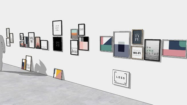 Quadros LESS Design | 3D Warehouse | Design, Gallery wall ...