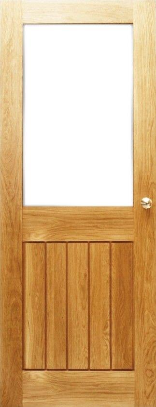 Solid Oak Mexicano Contemporary Half Glazed Door Solid oak doors