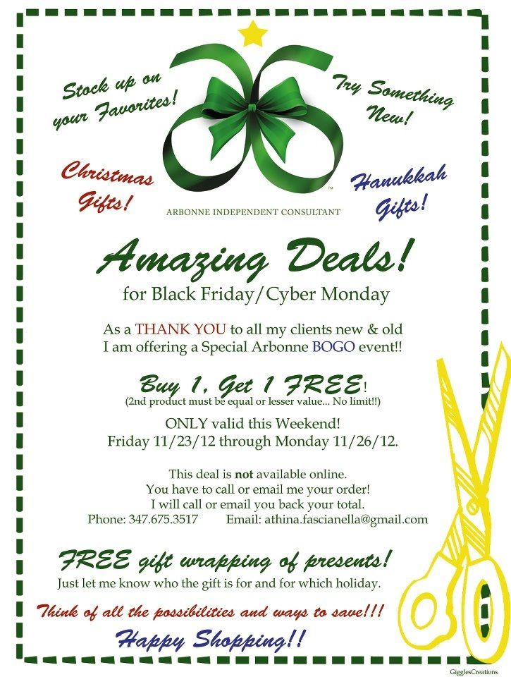 bogo sale on all arbonne products this weekend  buy 1 item