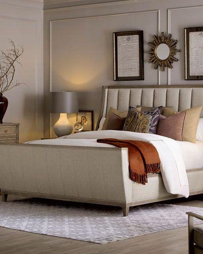 Best East Abbott Channel Tufted King Sleigh Bed Sleigh 400 x 300