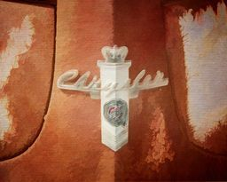 Rusty Old Chrysler Insignia By Terry Fleckney