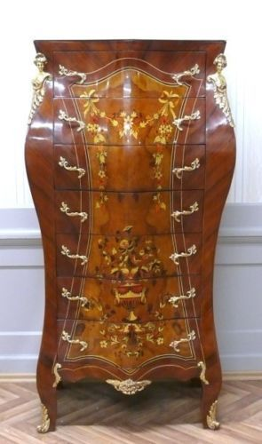 details zu barock kommode rokoko antik stil louis xv, Wohnideen design