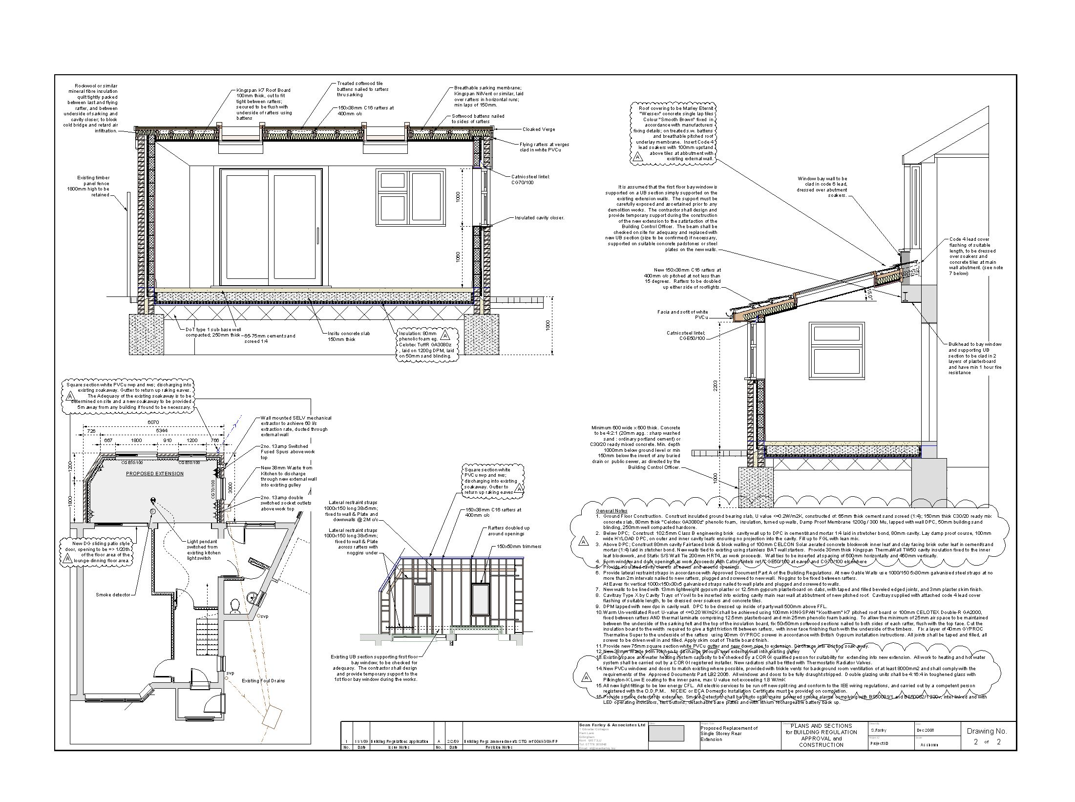 Medway Kitchen Extension Building Regs Dwg Jpg 2201 1642 Floor Plans Building Resources