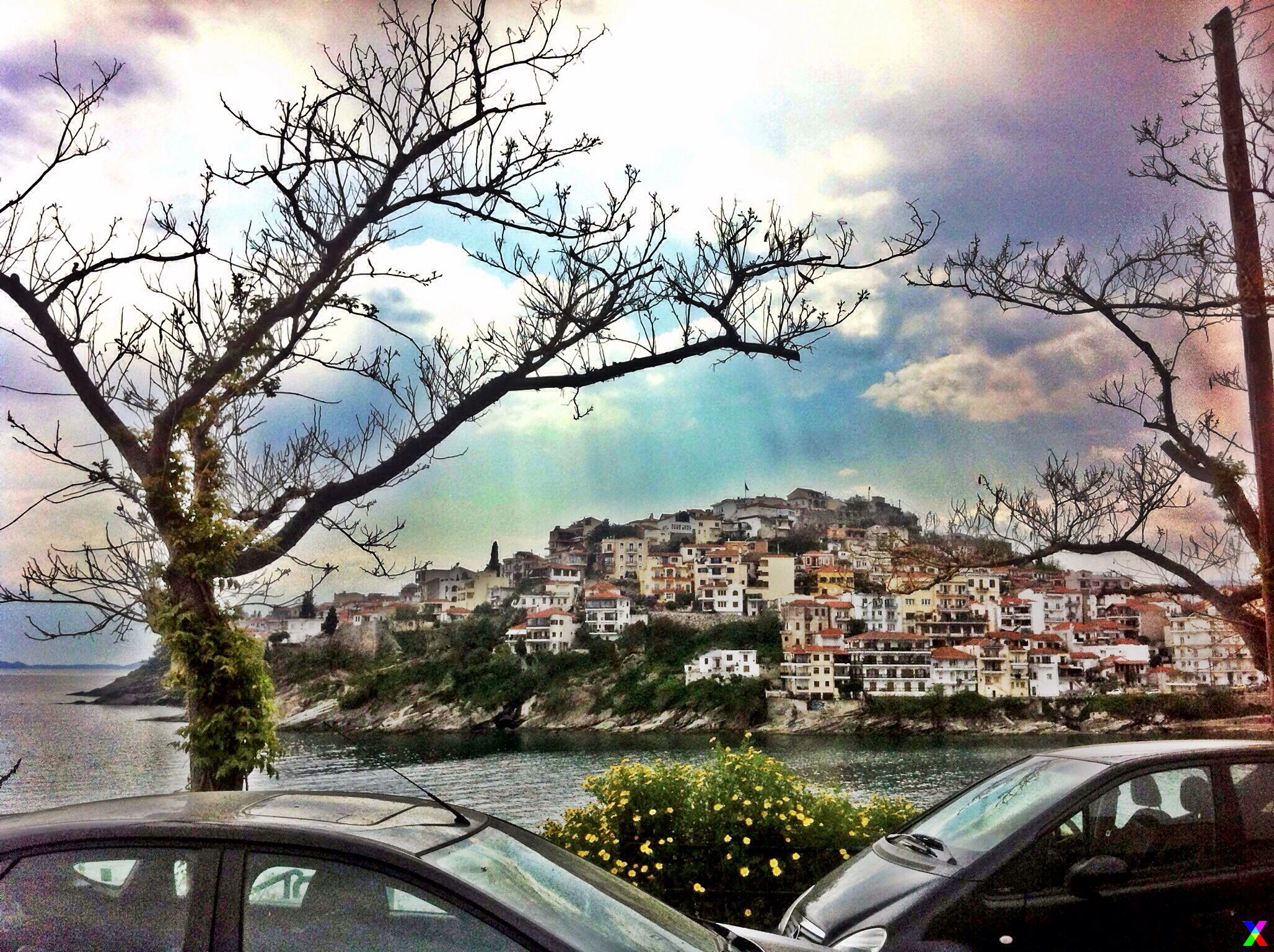 Kavala, Greece, Travel, View, Sunset