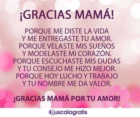 Frases De Agradecimiento Para Las Madres Frases De