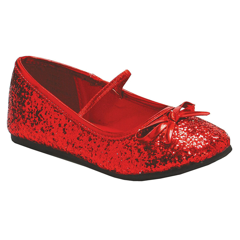 Red Glitter Ballet Shoes | Oriental