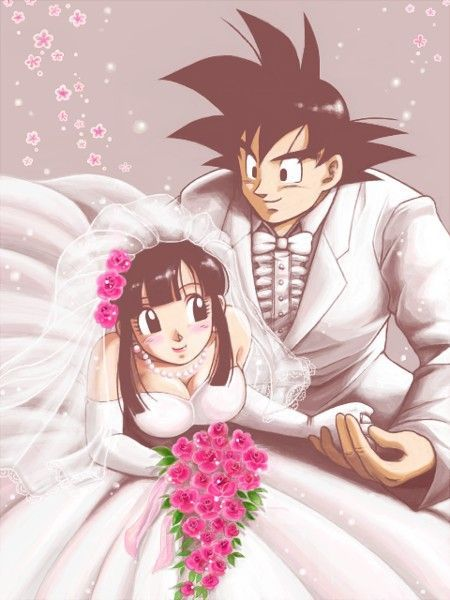 Goku and Chichi\'s wedding: | mis &mag3n5 | Pinterest | Goku, Dragon ...