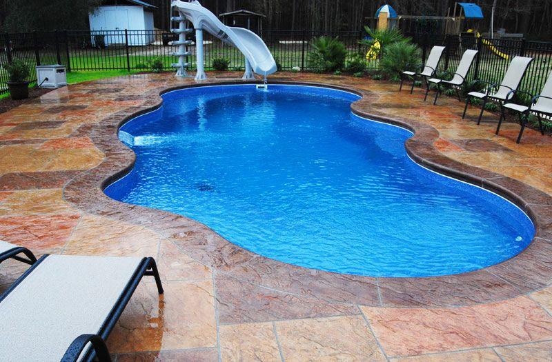 Phoenix Fiberglass Pool Model By Blue Hawaiian Pools Backyard