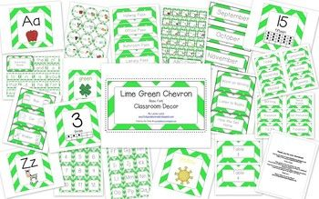 Lime Green Basic Font Clroom Decor