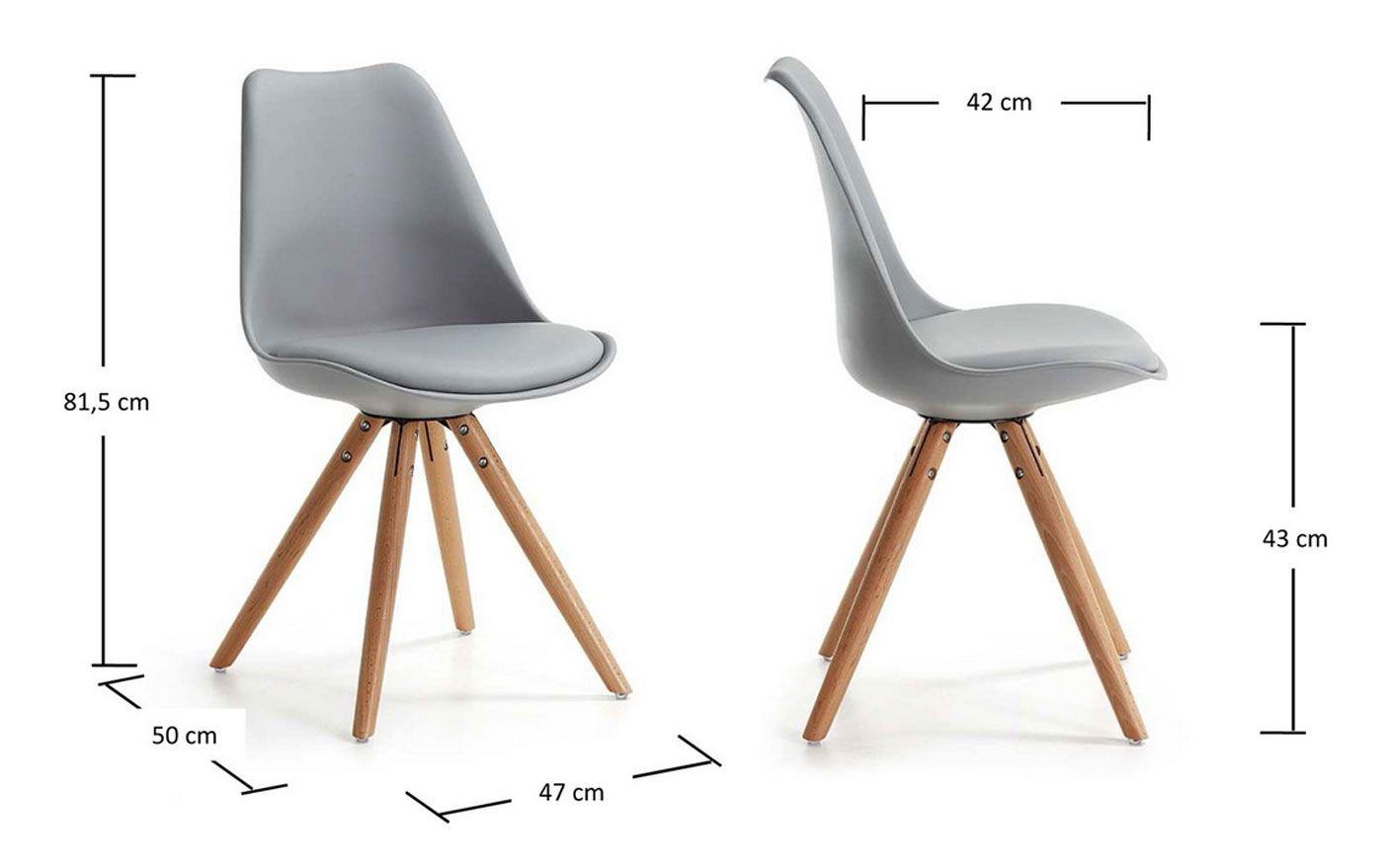 impressionnant chaise grise pied bois