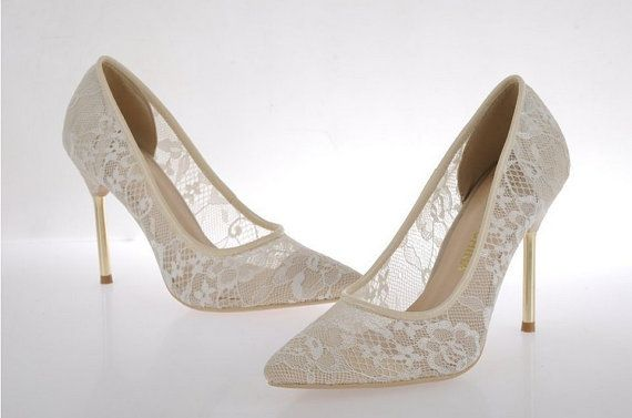 2014 Trending Sexy Shoes Lacy High Heels Sheepskin by ShoesPalace, $128.00